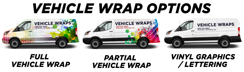 Gresham Vehicle Wraps vehicle wrap options