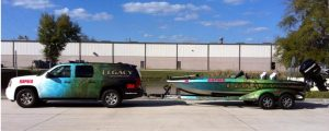 custom boat wrap and suv wrap