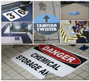 Safety Signs floor vinyl graphics sign outdoor indoor 300x271